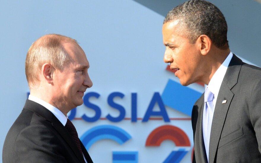 V. Putinas surems ietis su B. Obama