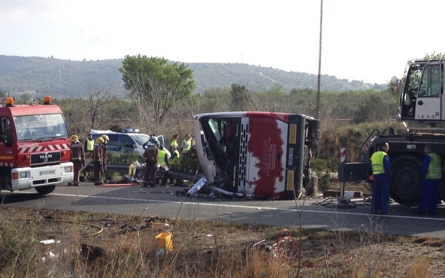 """Nelaimė Ispanijoje: sudužo """"Erasmus"""" studentus vežęs autobusas"""