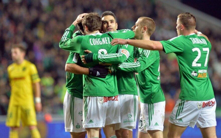 """""""Saint-Etienne"""" komandos futbolininkai"""
