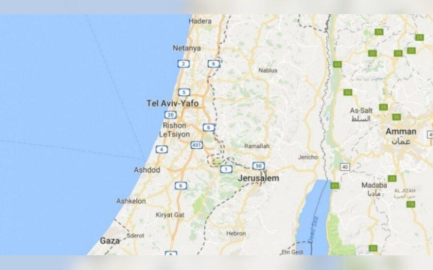 """""""Google Maps"""" kaltinama pradanginusi Palestinos pavadinimą"""