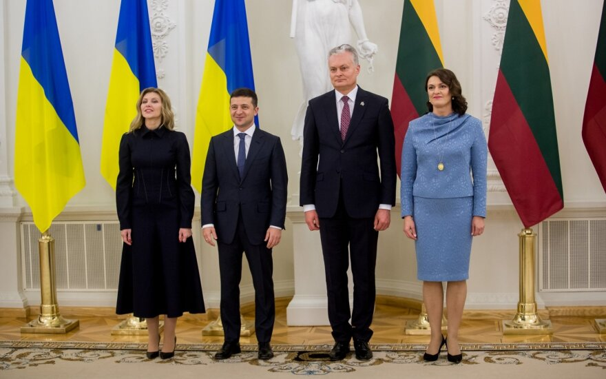 Olena Zelenska, Volodymyras Zelenskis, Gitanas Nausėda, Diana Nausėdienė