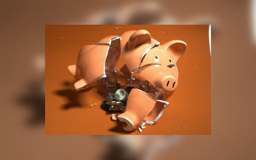 Bankas pataria klientams, kaip pasiruošti pasauliniam bankrotui