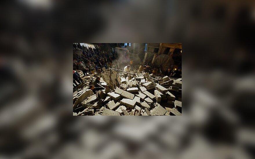 Sugriauti namai Gazoje