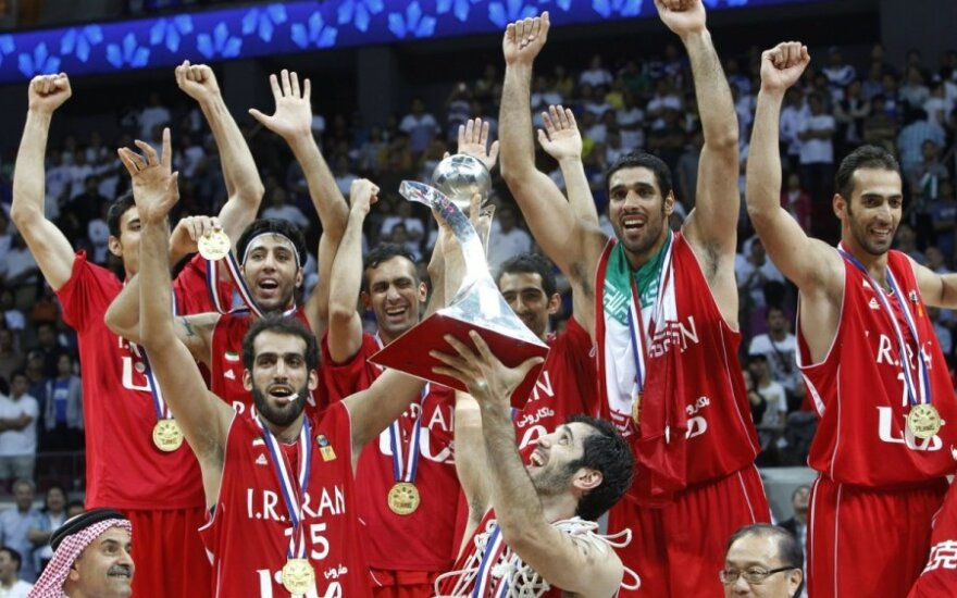 Irano krepšininkai - Azijos čempionai