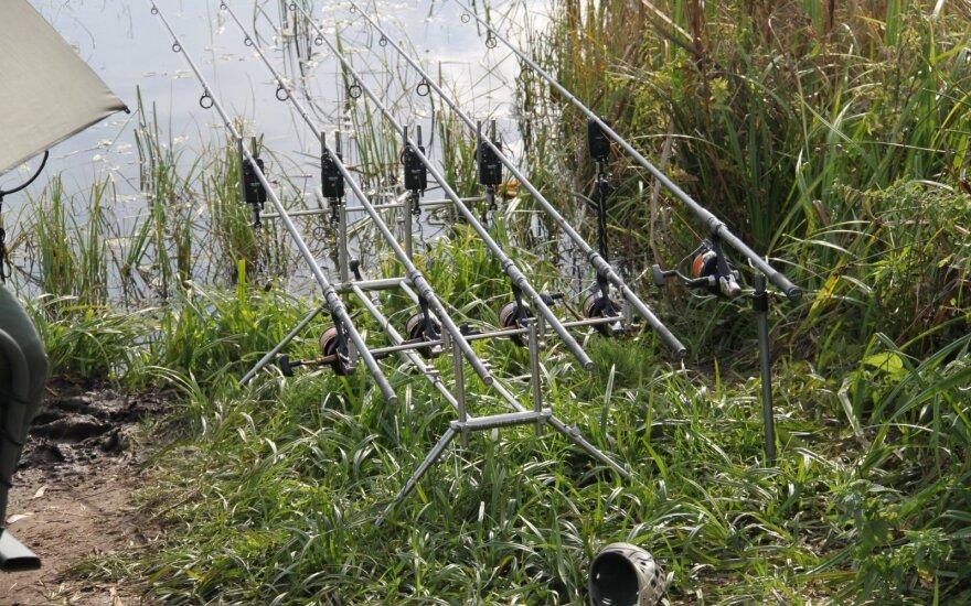 Žvejo naudotos meškerės