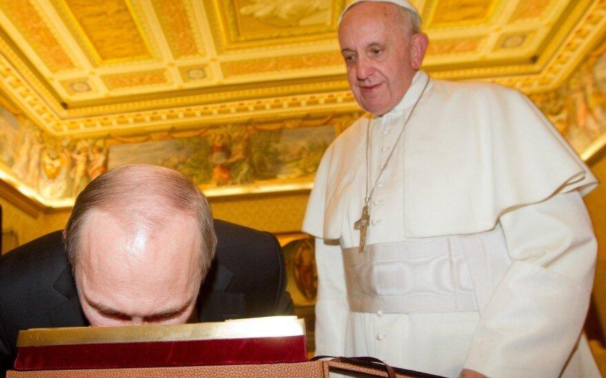 Vladimiras Putinas, Popiežius Pranciškus