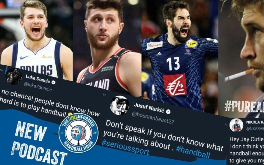JAV sporto žvaigždė supykdė rankinio bendruomenę / FOTO: (Un)informed Handball Hour