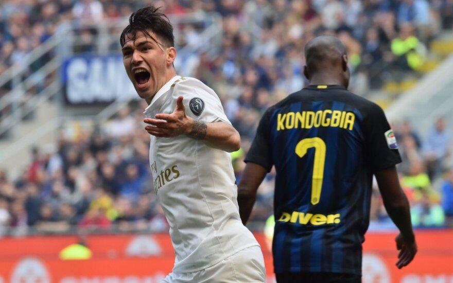 Serie A, Inter - AC Milan rungtynių akimirkos