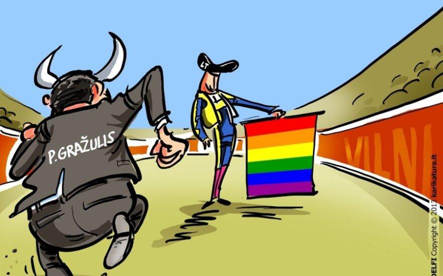 Petras Gražulis, gėjai, homoseksualai, eitynės, homofobai