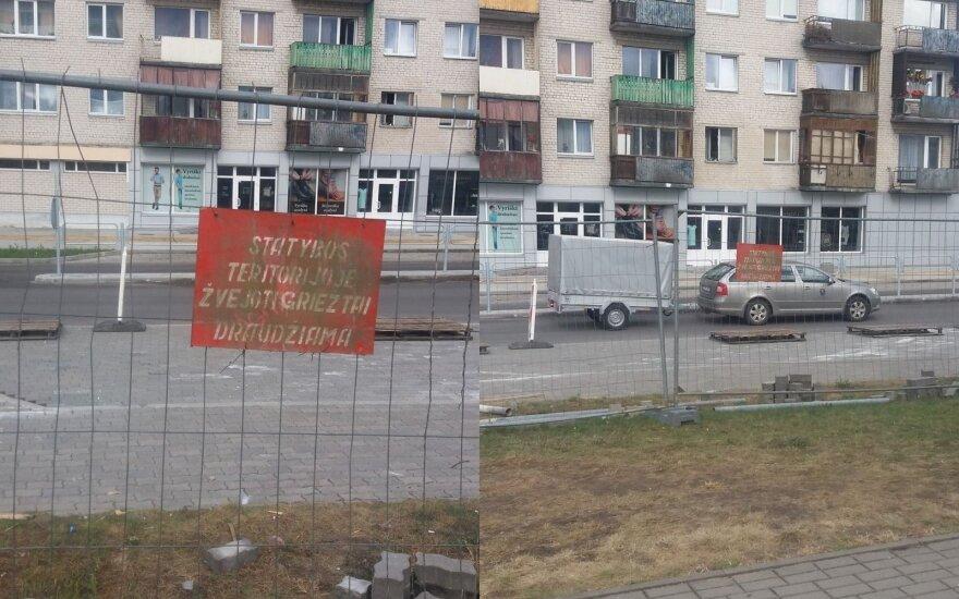 Praeivį pamatytas įspėjimas Varėnoje pralinksmino