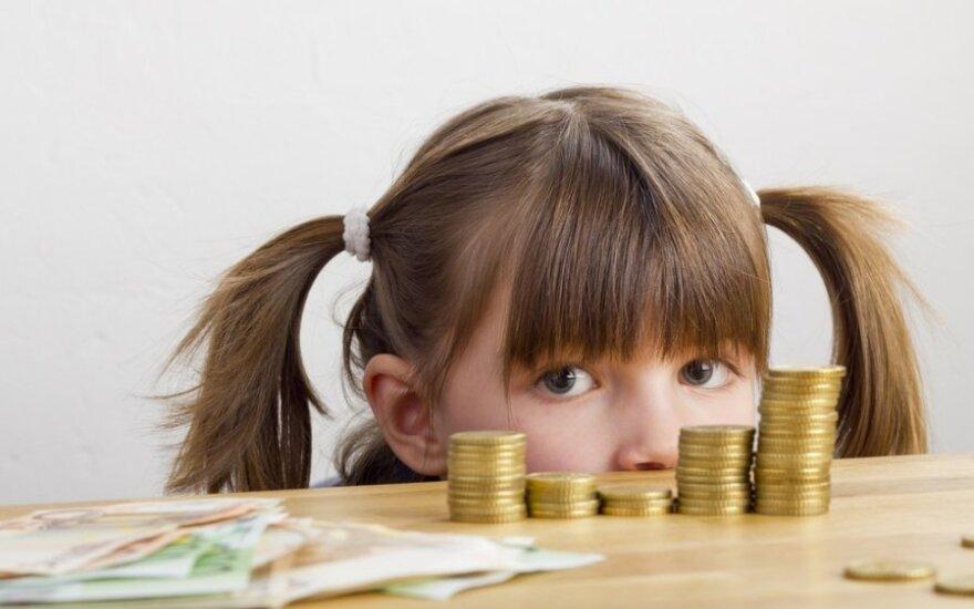 Kiek duoti kišenpinigių vaikui?