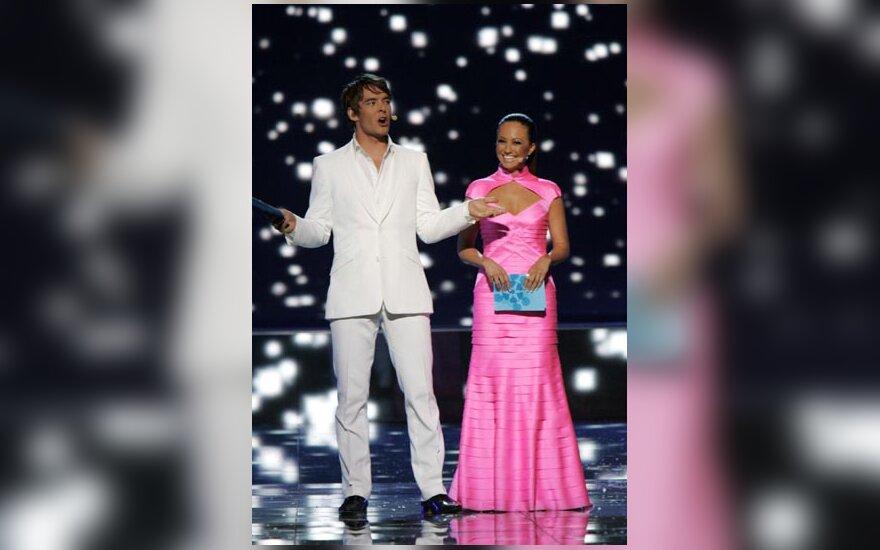 Eurovizijos vedėjai M.Leppilampis ir J.Pelkonen