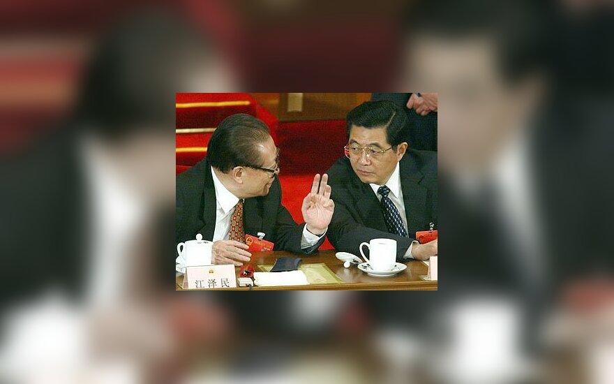 Jiang Zeminis ir Hu Jintao