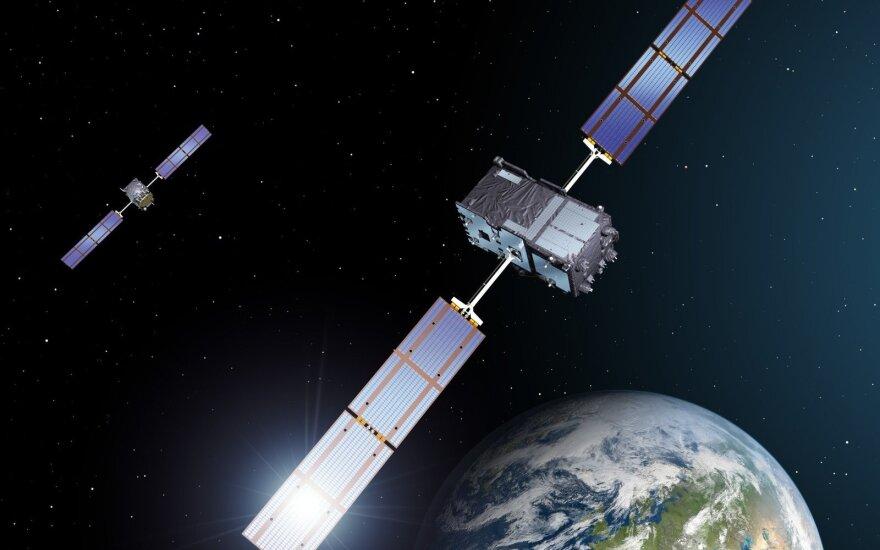 """Europos navigacijos sistemos """"Galileo"""" palydovai"""