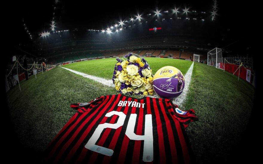 """""""AC Milan"""" klubas ir sirgaliai pagerbė Kobe Bryantą"""