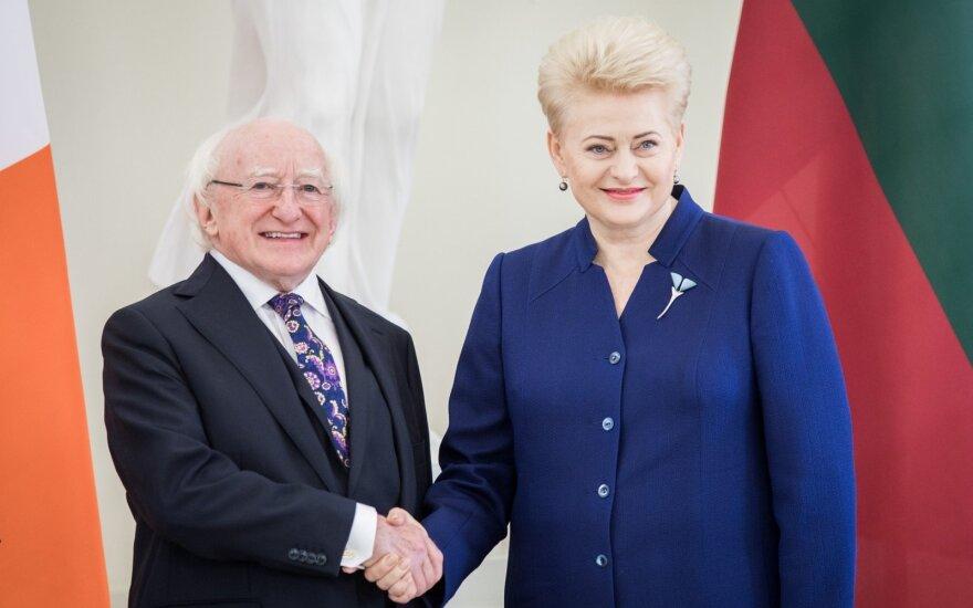 Michael D. Higgins, Dalia Grybauskaitė