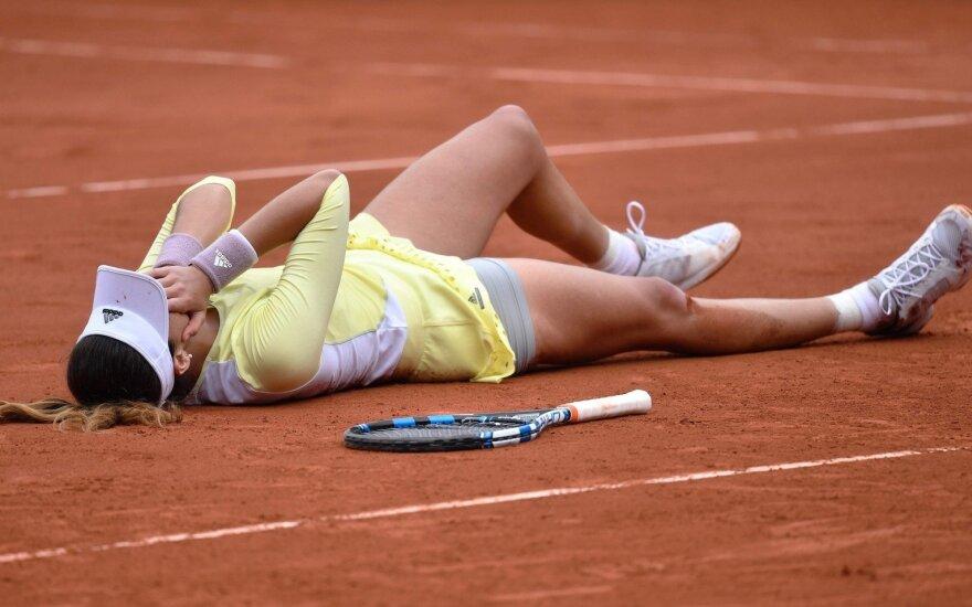 """""""Roland Garros"""" finale G. Muguruza neįtikėtinai nukarūnavo S. Williams"""