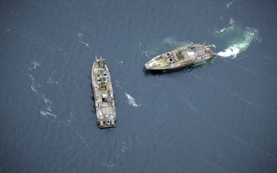 Užsienio povandeninio laivo Švedijos vandenyse paieška