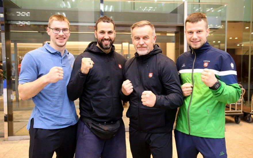 (iš kairės) Paulius Žimantas, Lukas Kubilius, Vladimiras Silvaško, Eventas Gužauskas