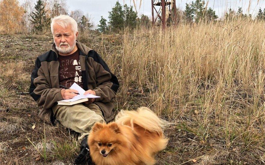 M. Lapelė ir šuo Pipiras