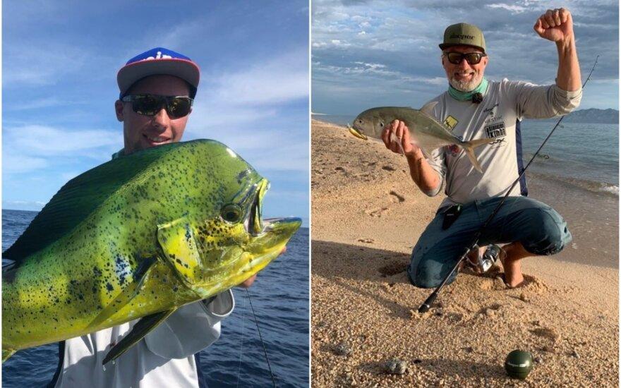 Akimirka iš žvejybos Meksikoje