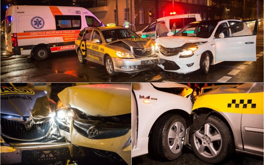 Nesėkminga studijų pradžia: naktinę avariją sukėlė studijuoti į Vilnių atvykęs jaunuolis, sužalotas taksi keleivis