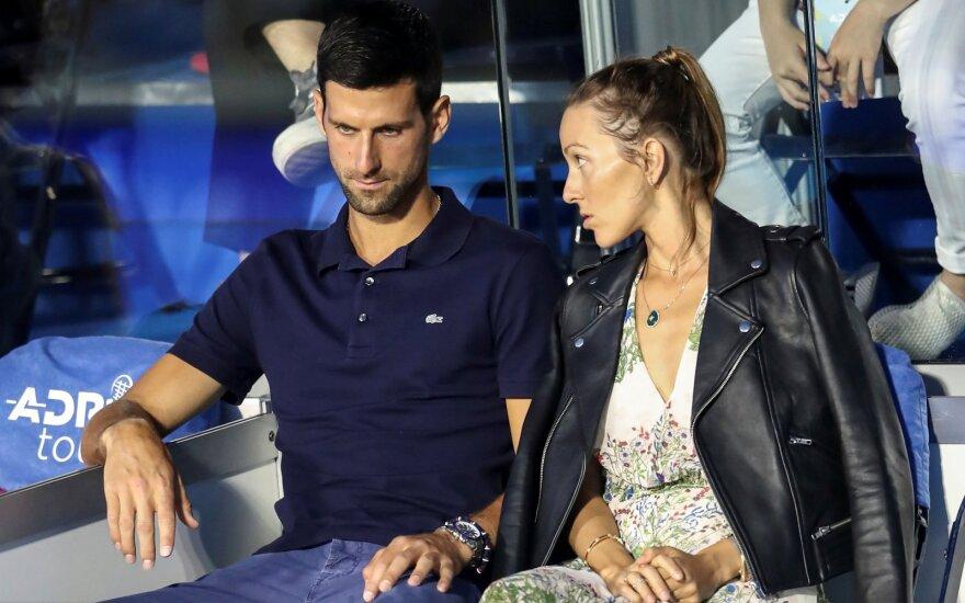 Novakas Džokovičius su žmona Jelena