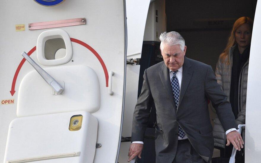 Iš pareigų atleistas JAV valstybės sekretorius Rexas Tillersonas