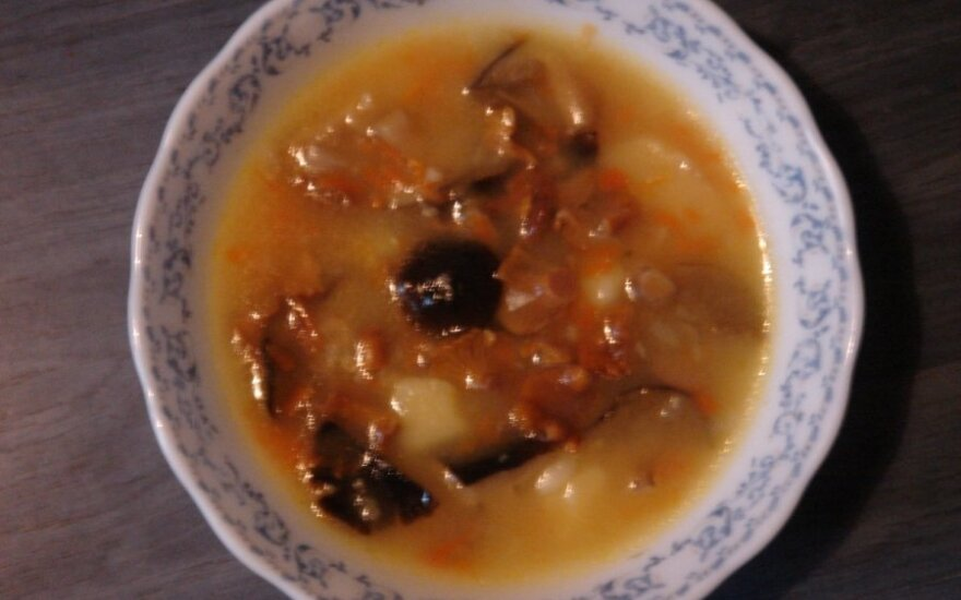 Dzūkiška grybų sriuba