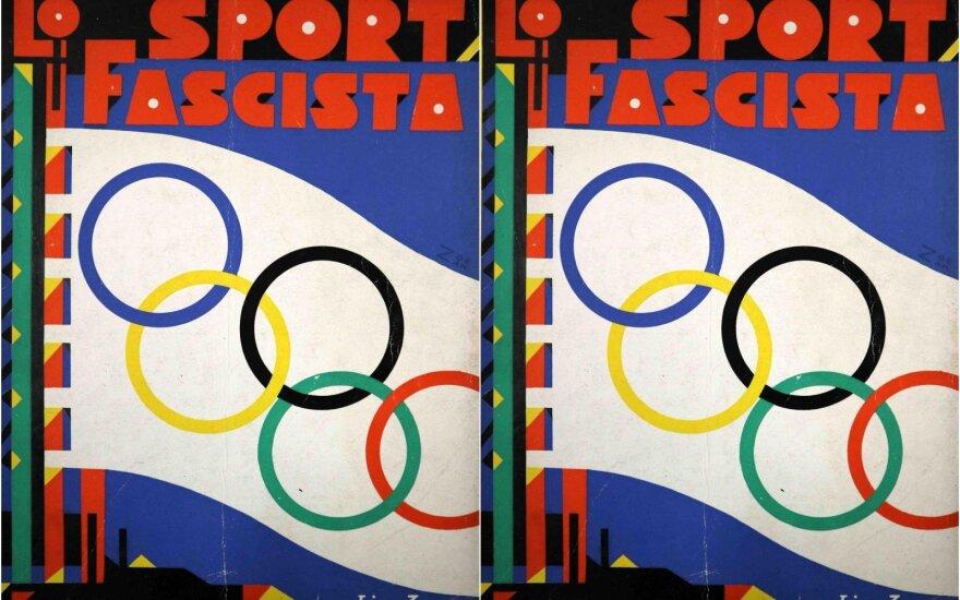 """Žurnalo """"Lo sport fascista"""" viršelis. 1930. Fondazione Cirulli nuosavybė"""