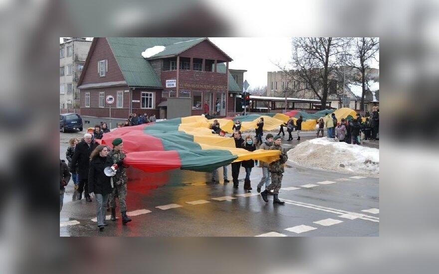 Pašventinta rekordinė vėliava
