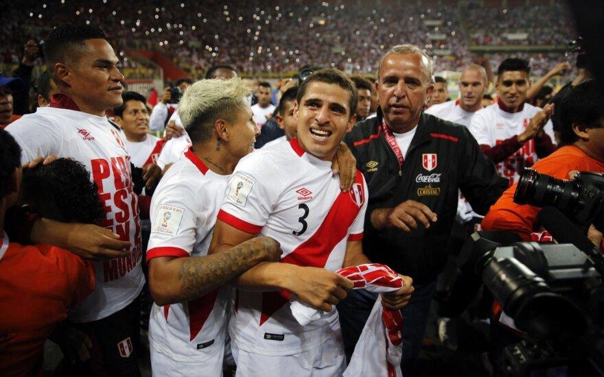 Peru futbolininkų triumfas