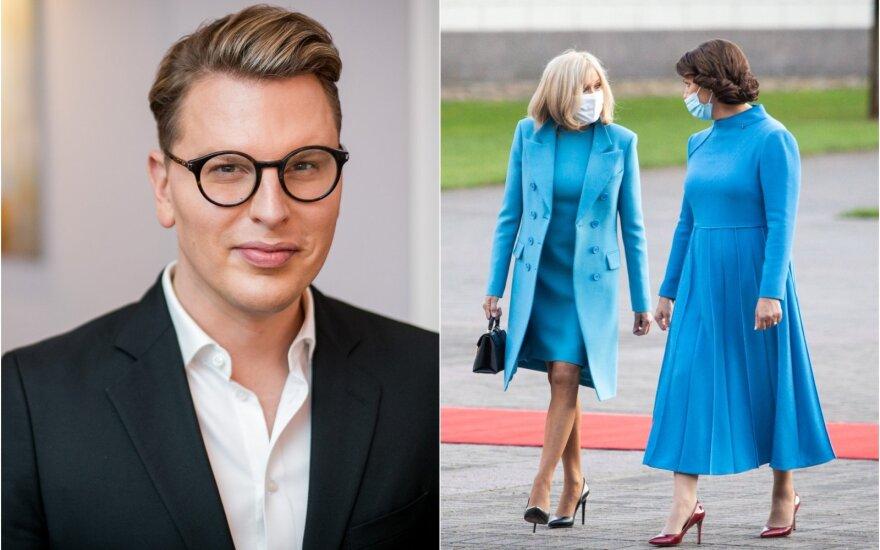 Saugirdas Vaitulionis, Brigitte Macron ir Diana Nausėdienė