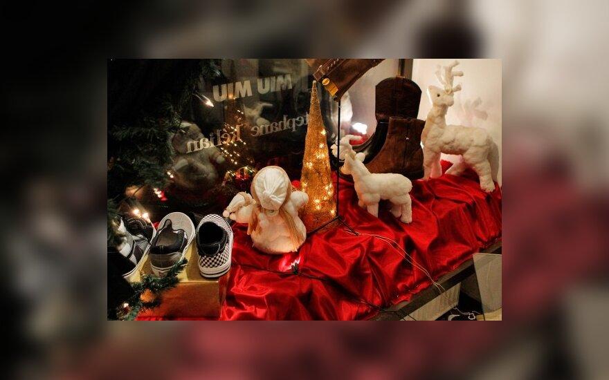 Vilniaus vitrinos ruošiasi Šv.Kalėdoms