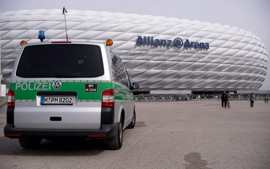 "Policija prie Miuncheno ""Allianz Arena"" stadiono"