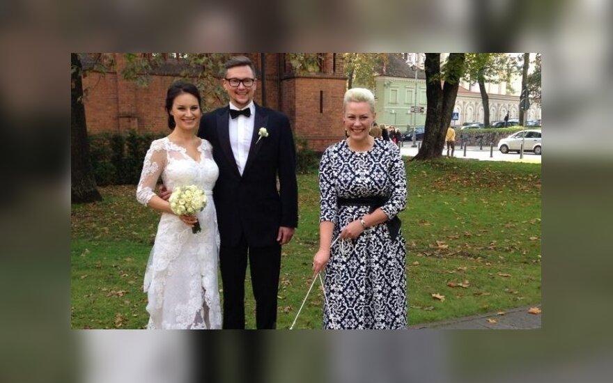 Simona Česnaitė su vyru