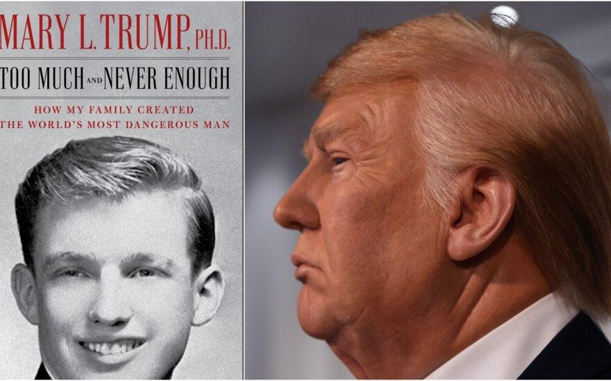Donaldas Trumpas ir knygos apie jį viršelis