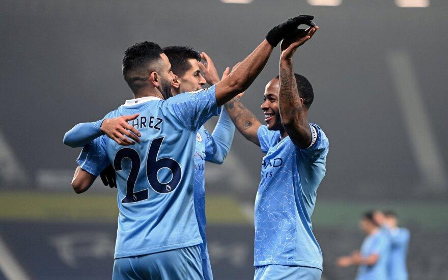 """""""Manchester City"""" džiaugiasi po eilinio įvarčio"""