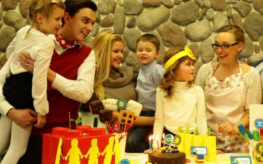 Roberto Javtoko dukters gimtadienis televizijoje