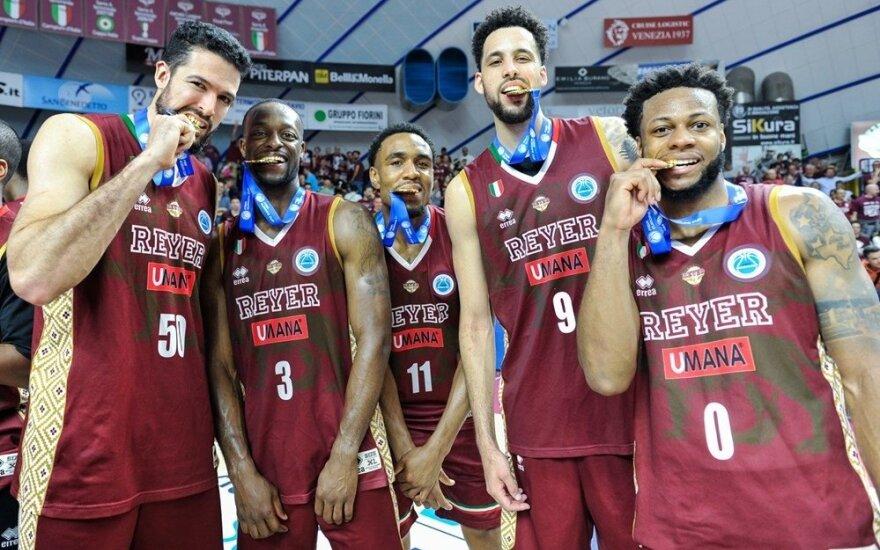 """Venecijos """"Umana Reyer"""" – FIBA taurės laimėtoja"""