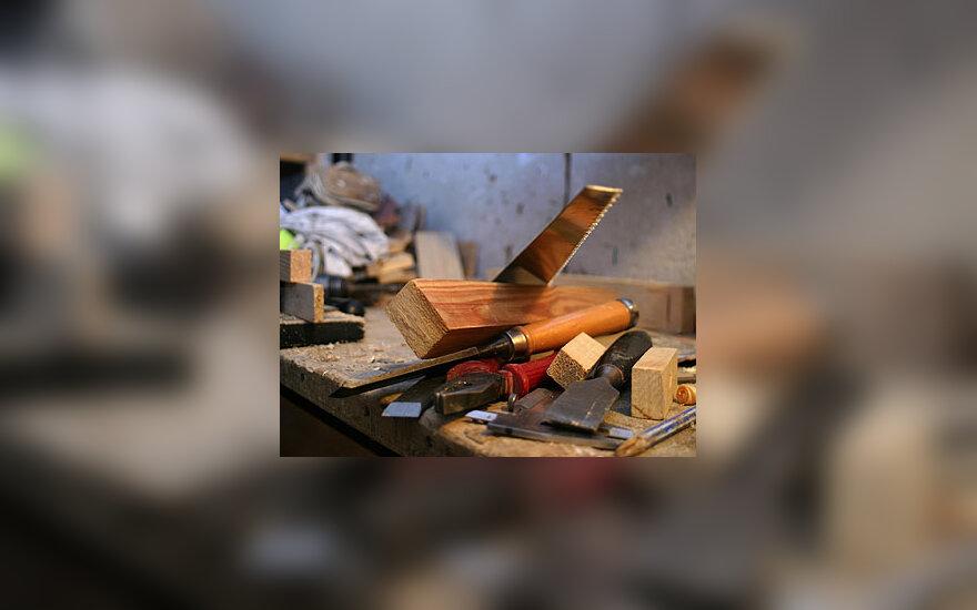 Medienos pramonė, įrankiai, staliaus dirbtuvė