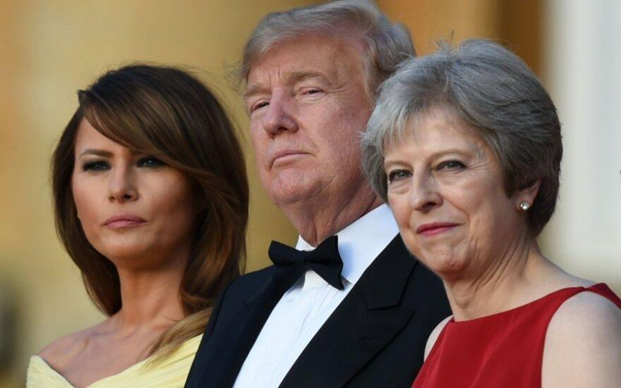 Donaldas Trumpas susitinka su Theresa May