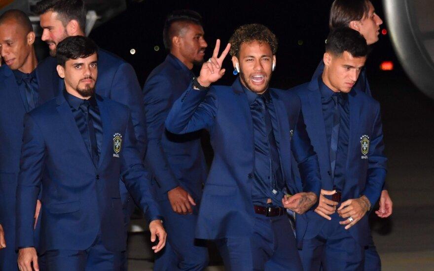 Brazilijos rinktinė atvyko į pasaulio futbolo čempionatą Rusijoje