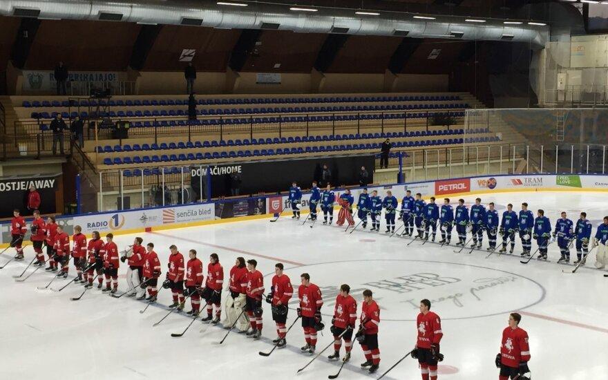 Lietuvos ir Slovėnijos U-20 ledo ritulio rinktinės