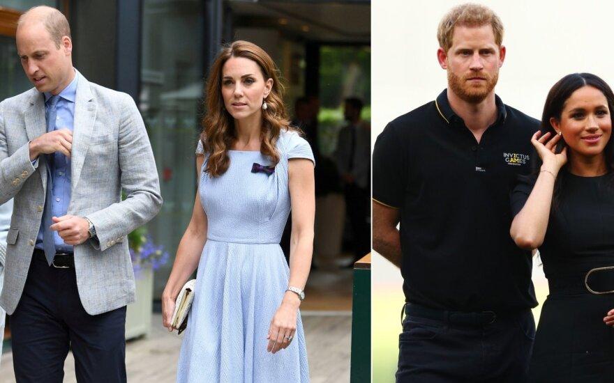 Kate Middleton ir princas Williamas, Meghan Markle ir princas Harry