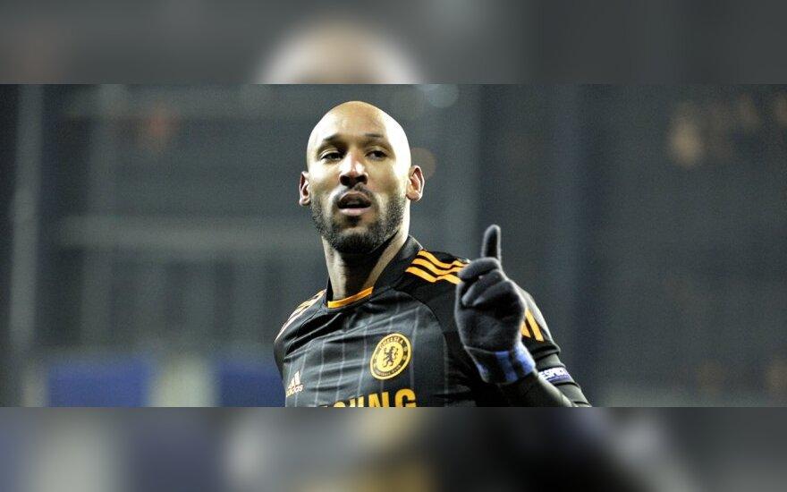 "Nicolas Anelka (""Chelsea"") pelnė 2 įvarčius"