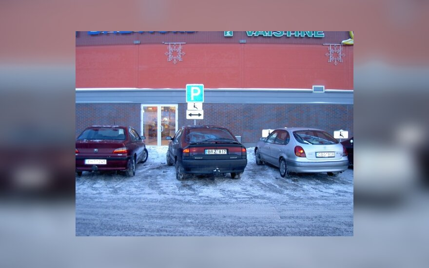 """Klaipėdoje, prie PC """"Banginis"""". 2010-01-08, 16.12 val."""