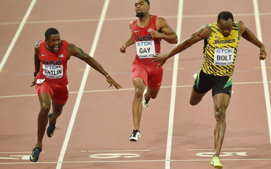 Justinas Gatlinas ir Usainas Boltas