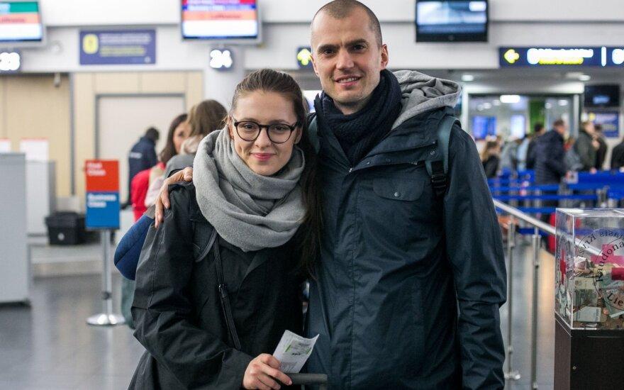Ieva Zasimauskaitė su vyru