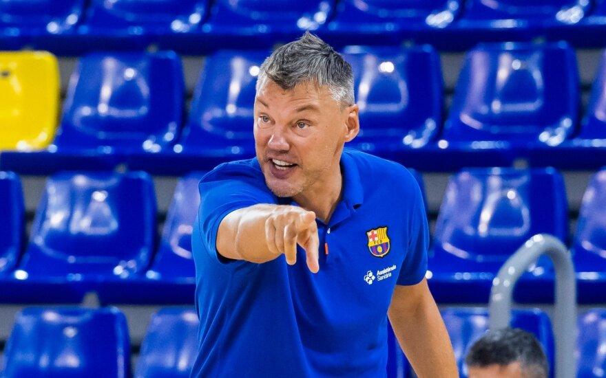 """Šarūnas Jasikevičius / Foto: """"Barca Basket"""" Twitter"""